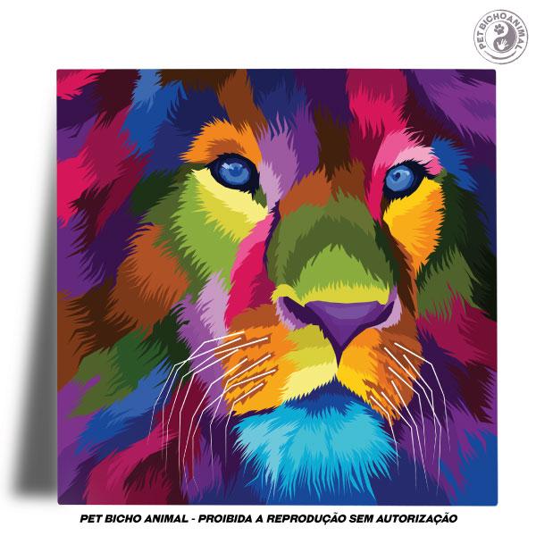 Azulejo Decorativo - Leão em Cores 2