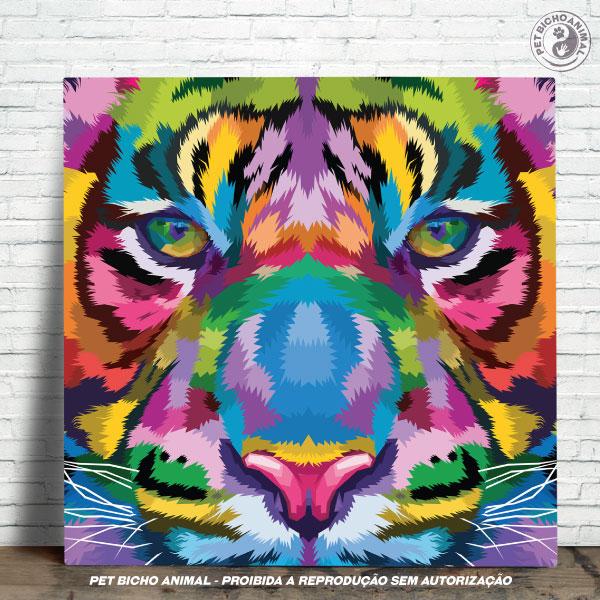 Azulejo Decorativo - Tigre em Cores 1