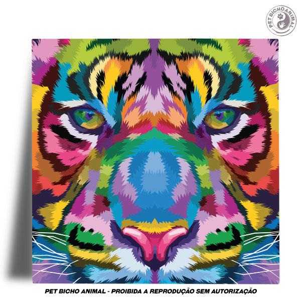 Azulejo Decorativo - Tigre em Cores 2