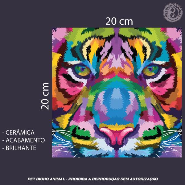 Azulejo Decorativo - Tigre em Cores 3