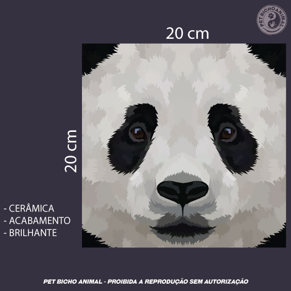 Azulejo Decorativo - Close de um Panda 3
