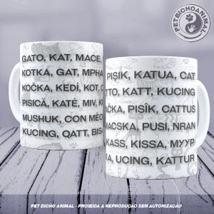 Caneca - Gato em Várias Línguas 1