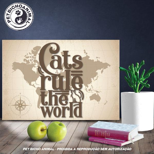Quadro Cats Rule The World 1