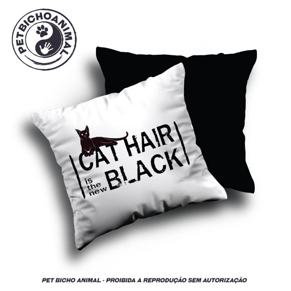 Almofada Cat Hair is the New Black 2