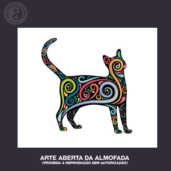 Almofada Gato Psicodélico 3