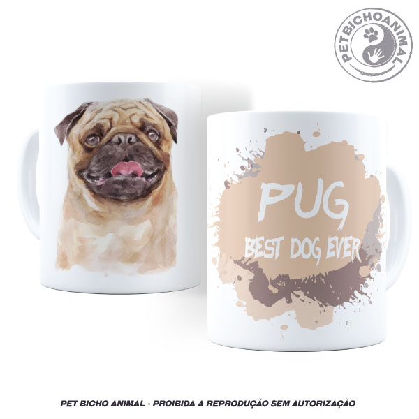 Caneca Coleção Best Dog Ever – Raça Pug 2