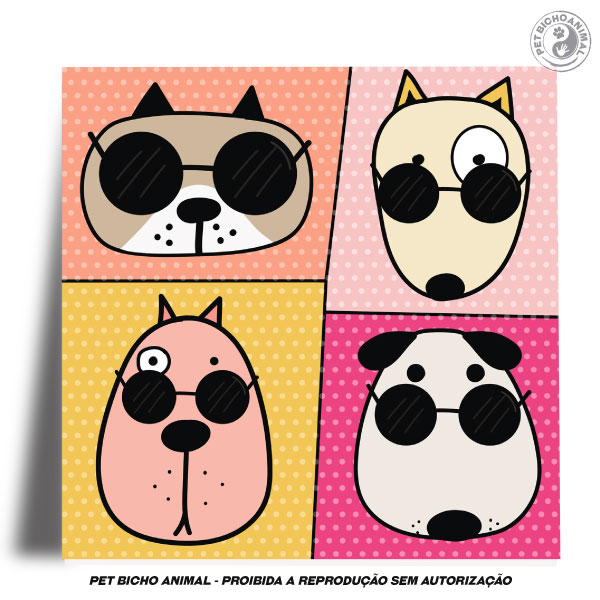 Azulejo Decorativo - Cool Dogs 2