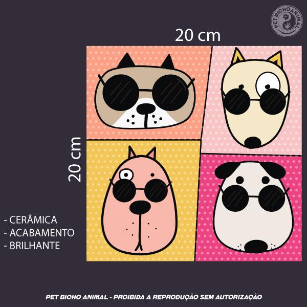 Azulejo Decorativo - Cool Dogs 3